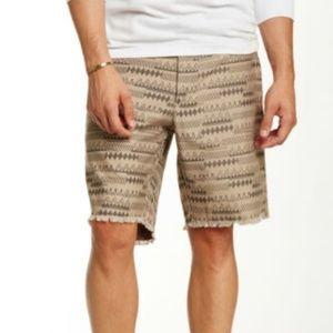 Burkman Bros Plainfront Camo Short Khaki Size 30
